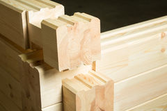 Element of glued timber construction Stock Image