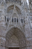 Element of gothic architecture. France in summer. Royalty Free Stock Photos