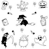 Element halloween doodle hand draw Stock Photography