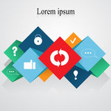 Element info-graphic with flat icon.web design- stock  Royalty Free Stock Photo
