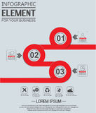 Element for infographi template geometric figure circle for web. Element for infographi template geometric figure circle Stock Images