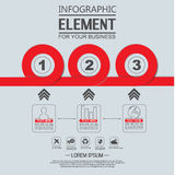 Element for infographi template geometric figure circle for web Royalty Free Stock Photography