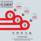 Element for infographi template geometric figure circle for web Stock Photos