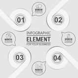 Element for infographi template geometric figure circle for web. Element for infographi template geometric figure circle for Royalty Free Stock Photo
