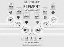 Element for infographi template geometric figure circle for web. Element for infographi template geometric figure circle Royalty Free Stock Photos
