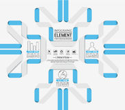Element for infographi template geometric figure for web Royalty Free Stock Photos
