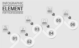 Element for infographic chart template geometric figure overlapping circles. For web Stock Image