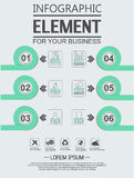 Element for infographic chart template geometric figure overlapping circles. For web Stock Photo