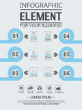 Element for infographic chart template geometric figure overlapping circles. Element for infographic chart template geometric figure for web Royalty Free Stock Images
