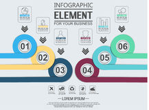 Element for infographic chart template geometric figure overlapping circles. For web and other Stock Image