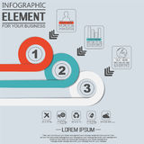 Element for infographic chart template geometric figure overlapping circles. For web and other Stock Photos