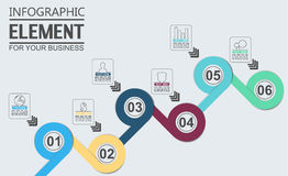 Element for infographic chart template geometric figure overlapping circles. For web and other Stock Photography