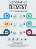 Element for infographic chart template geometric figure overlapping circles. For web and other Royalty Free Stock Photography