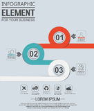 Element for infographic chart template geometric figure overlapping circles. For web and other Royalty Free Stock Image