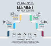 Element for infographic chart template geometric figure stikers number options. For web Royalty Free Stock Images