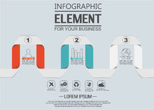 Element for infographic chart template geometric figure stikers number options. For web Stock Photo