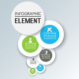 Element for infographic chart template geometric figure. For web Stock Image