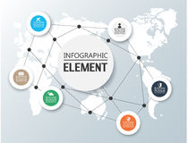 Element for infographic chart template geometric figure. For web Stock Photo