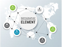 Element for infographic chart template geometric figure. For web Royalty Free Stock Image