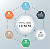 Element for infographic chart template geometric figure. For web Stock Photography