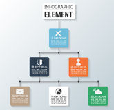 Element for infographic chart template geometric figure. For web Royalty Free Stock Images
