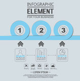 Element for infographic chart template geometric figure. For web Royalty Free Stock Photo