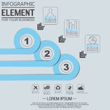 Element for infographic chart template geometric figure. For web Stock Images