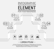 Element for infographic template geometric figure four options simple. For web Royalty Free Stock Image