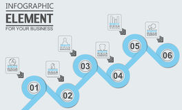 Element for infographic template geometric figure overlapping circle. For web Royalty Free Stock Photos