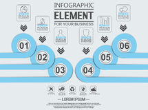 Element for infographic template geometric figure overlapping circle. For web Stock Photo
