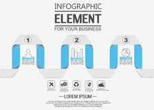 Element for infographic template geometric figure sarpentine for web Stock Photography