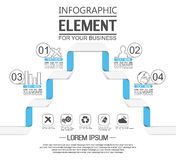 Element for infographic template geometric figure. For web Royalty Free Stock Photos