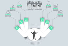 Element for infographic template geometric figure for web. Element for infographic template geometric figure Royalty Free Stock Photography