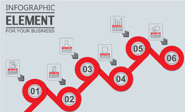 Element for infographic template geometric figure for web. Element for infographic template geometric figure Royalty Free Stock Photo