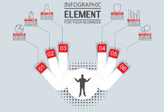 Element for infographic template geometric figure for web. And other Royalty Free Stock Photo