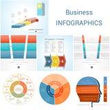 Element Infographics diagram three steps, options, parts, proces Stock Photos