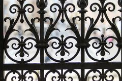 The element of the old lattice gates royalty free stock image