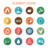 Element long shadow icons Stock Photography