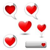 Element med hjärta vektor illustrationer