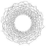 Element met kreuk, gevouwen lijnen Abstracte zwart-wit illustr vector illustratie