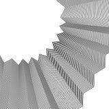 Element met kreuk, gevouwen lijnen Abstracte zwart-wit illustr stock illustratie