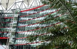 Element of modern architecture is exemplified by the Sony Center in Berlin, Germany. BERLIN, GERMANY - 21 SEPTEMBER, 2015. Element of modern architecture is Stock Photo