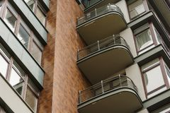 Element of a modern multi-storey building Royalty Free Stock Images