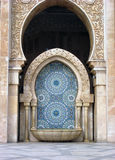 Element of a mosque. The colorful mosaics of  the Hassan Mosque in Casablanca, Morocco Stock Images