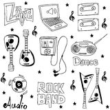 Element music doodles on white backrgounds Royalty Free Stock Photography