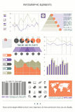 Element nine. Infographic elements, web technology icons. vector timeline option graph, clock, bar code symbol. pie chart info graphic icon. financial statistic Stock Images