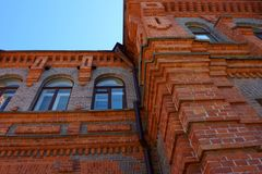 Old Red Brick Building, Khabarovsk Russia stock photo
