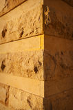 Element of the old stone facade angle house close up Stock Image