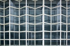 Element of old weathered glass facade, Glass Curtain Facade Wall. Facade Detail. Architecture Abstract Background stock photo