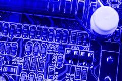 Element på chip av northbridge av makroen för datormoderkortslut royaltyfria foton